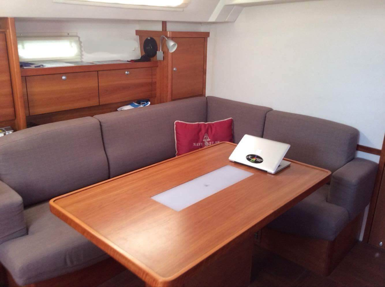 saloon of Hanse 470 Sailing yacht for sale with Whites Yachts Brokers Mallorca