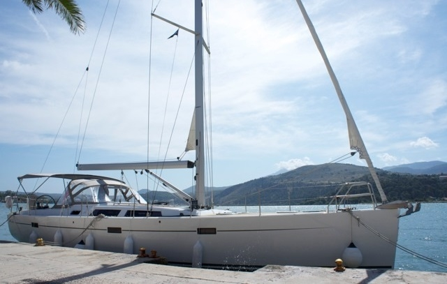 side view of Hanse 470 Sailing boat for sail with Whites Yachts Brokers Mallorca