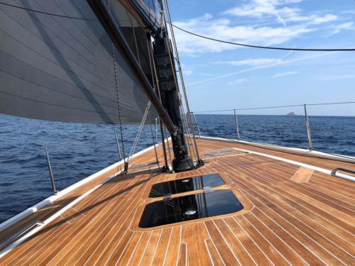 deck view of Solaris 50 - Sailing boat for Sale with Whites Yachts Brokers Mallorca Spain